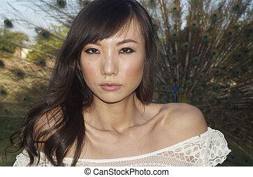 美麗, 性感, 亞洲的女人
