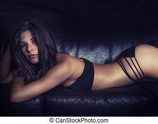 美麗, 性感, 年輕婦女