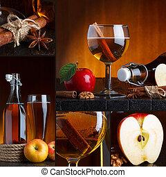 美麗, 拼貼藝術, 苹果酒, 蘋果