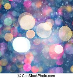 美麗, 摘要, 背景, 假期, bokeh, witn, 聖誕節
