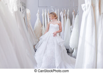 美麗, 新娘, 衣服, 婚禮