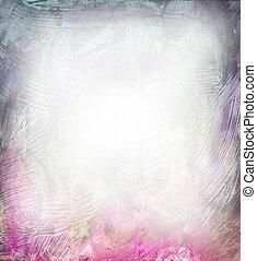 美麗, 水彩, 背景, 在, 軟, 紫色, 以及, 粉紅色