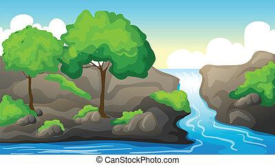 美麗, 河風景