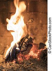 美麗, 火, 壁爐