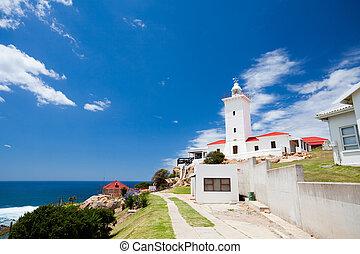 美麗, 燈塔, 在, mossel, 海灣