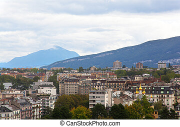 美麗, 看法, ......的, 日內瓦, 瑞士