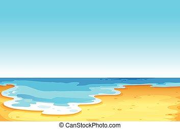 美麗, 看法, ......的, the, 海