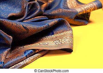 美麗, 織品, 由于, 黃金, 襯裡