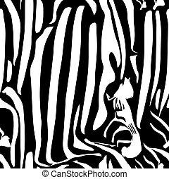 美麗, 織品, zebra, 衣服, texture., 袋子, prints., 時裝, pattern., seamless, 黑色, 白色, perfectly, 紡織品, 包裹, 覆蓋, 牆紙, 孩子, 紙, 床, 矢量, 亞麻布