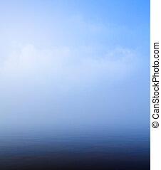 美麗, 藍色, 藝術, 天空, 水, 背景