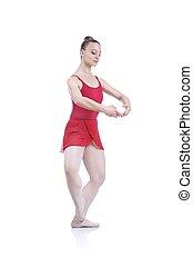 美麗, 藝術, 女性, 芭蕾舞女演員, 解決, 執行, 藝術, 芭蕾舞, 元素