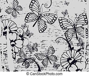 美麗, 蝴蝶, 花, 正文