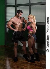 美麗, 運動, 夫婦, 以後, 訓練