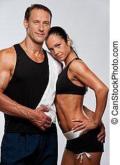 美麗, 運動, 夫婦。