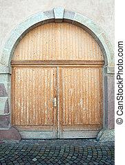 美麗, 雅致, 木制的門