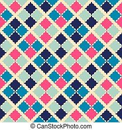 美麗, pattern., seamless, 插圖, 矢量, retro