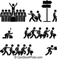 群衆から立つ