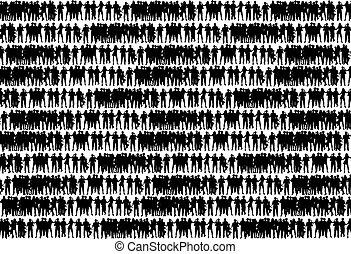 群集, 人々