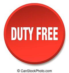 義務, 平ら, ボタン, 隔離された, 無料で, 押し, ラウンド, 赤