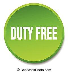 義務, 平ら, ボタン, 隔離された, 無料で, 緑, 押し, ラウンド