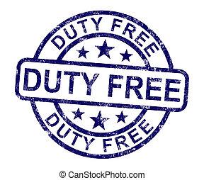 義務, 買い物, いいえ, 切手, 税, 無料で, ショー