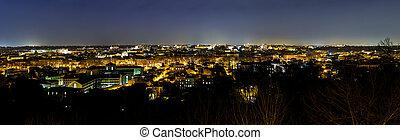 義大利, 羅馬, 全景, 夜晚