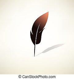 羽の ペン