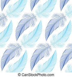 羽, ベクトル, seamless, パターン