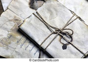 羽, ペーパー, 古い手紙