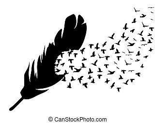 羽, 飛行の鳥