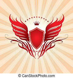 翼, 王冠, 保護
