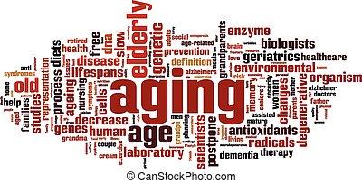 老化, 単語, 雲