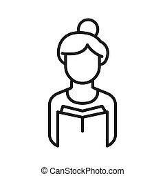 老師, avatar, 插圖, 設計