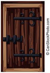 老式的東西, ......的, 木制的門