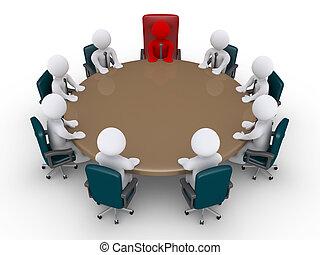 老板, 以及, 商人, 在, a, 會議