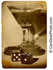 老的时间, 赌博