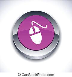 老鼠, button., 3d