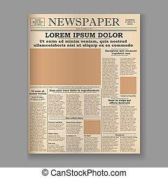 老, 報紙, 首頁