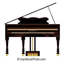 老, 宏大的鋼琴