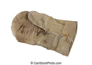 老, 工作手套, 骯髒