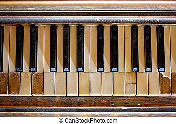 老, 忘記, 鋼琴