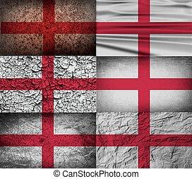 老, 旗, 矢量, england, texture.