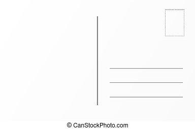 老, 明信片, 旅行, 背, 設計, 樣板, 郵政, template., 卡片
