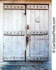 老, 木制, 前門