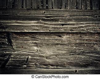 老, 木制, 摘要, planks., 背景, grungy