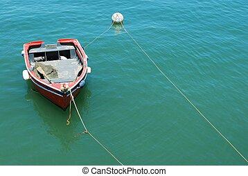 老, 渔船, 在, the, 港口, 在中, cascais, 葡萄牙