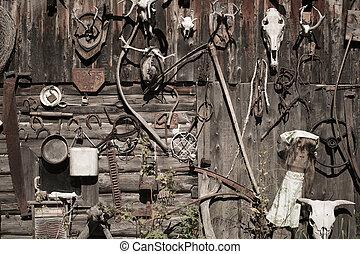 老, 生鏽, 工具