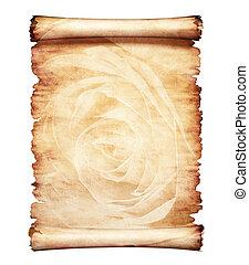 老, 羊皮纸, 背景, 浪漫