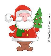 老, 聖誕老人, 藏品, a, 圣誕樹