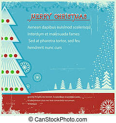 老, 背景, 聖誕節, 海報, 葡萄酒